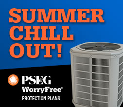 Enroll in PSE&G Worryfree repair protection for your Central A/C and get the first two months of coverage free. Image of an air conditioning unit.