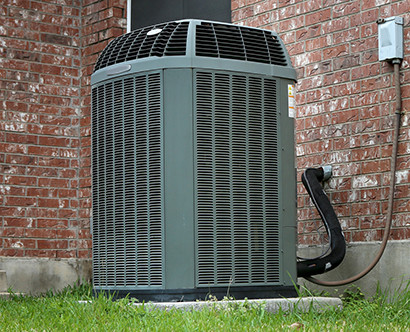 An HVAC unit installed outdoors
